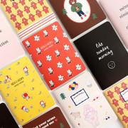 Romane illustration medium plain and lined notebook