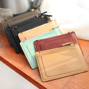 With Alice Think about w zip up flat card case