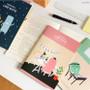 Lined note set - Indigo Monster illustration 3 notebook set