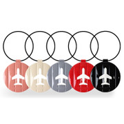 Fenice Airplane enamel round travel luggage name tag