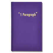 Paperpack 1 paragraph hardcover purple diary