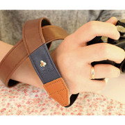 Alice camera strap - Brown and Navy