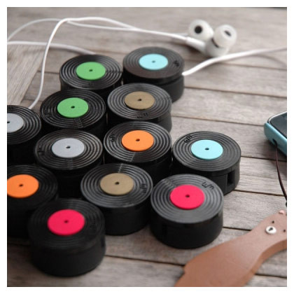 LP clean earphone cable winder organizer