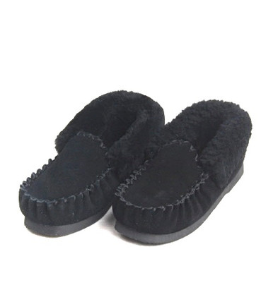 Skinnys Sheepskin Moccasin Black