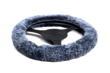 Sheepskin Steering Wheel Cover Dark Grey