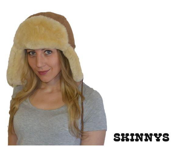 0ca368628c6dd Sheepskin Hat with Flaps