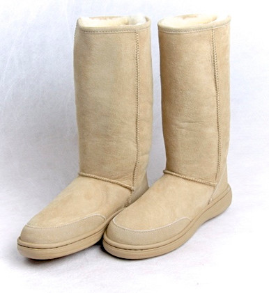 Skinnys Outback Tall Sheepskin Boot Natural