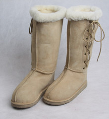 SALE - Lace-up Sheepskin Boot