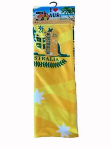 Beach towel- Green n Gold