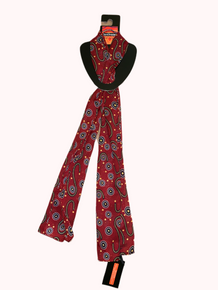 Aboriginal Scarf- Burgundy