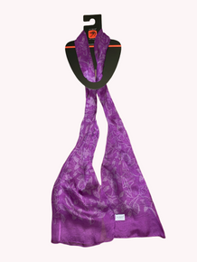 Aboriginal Scarf- Purple Bush Flower