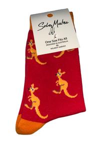 Kids Kangaroo Socks-Red