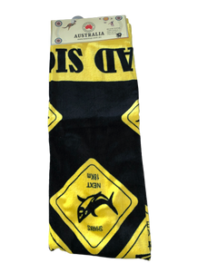 Australian Road Sign Beach Towel