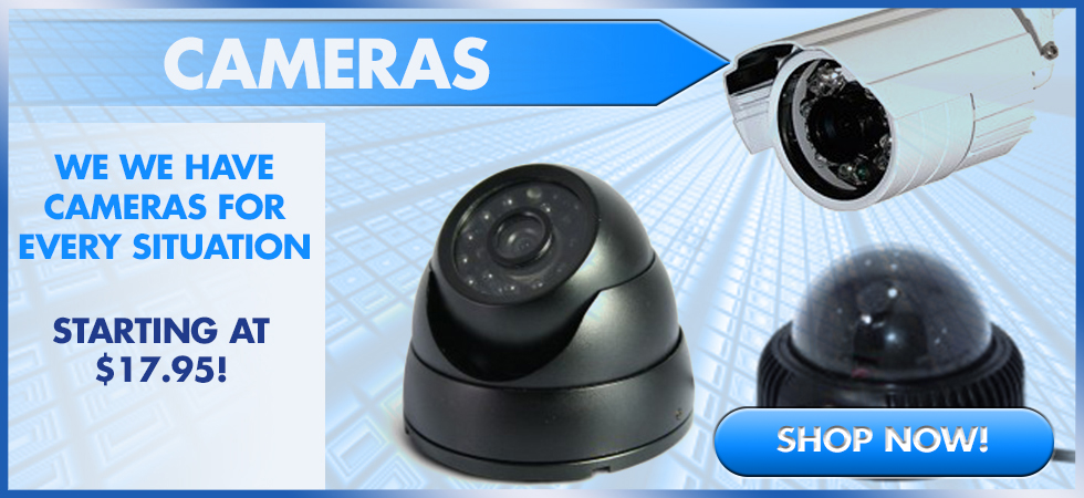 Huge Selection of Dome & Bullet Cameras