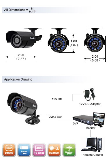 Zmodo Pkd Dk0866 500gb 8 Ch Security Outdoor Camera Kit No Hard Drive