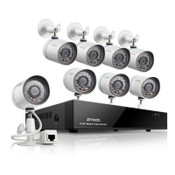 8 CH All-in-One 720P NVR System 1TB Hard Drive with 8 IP Cameras