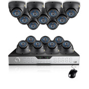 Zmodo 16CH Business Security System & 16 600TVL CCD Cameras-1TB HDD