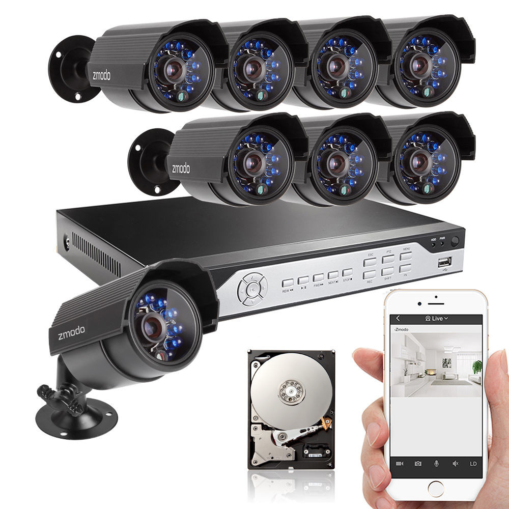 Zmodo 8 Channel CCTV Surveillance System with 1TB Hard Drive & Night