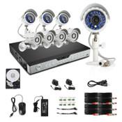 Zmodo 16CH DVR 1TB & 8 CMOS 600TVL 65ft IR Outdoor Security Cameras