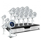 KDH6-BARBZ6ZN-1TB includes a 16 CH H.264 DVR and 16 CMOS Color IR outdoor security cameras