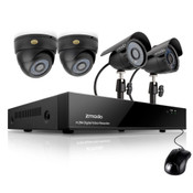 KDA4-CARQA22N-1T Zmodo 4CH Day Night Surveillance System & 4 600TVL Cameras & 1TB HDD