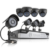 Zmodo 8CH Video Security System w/ 4 Bullet and 4 Dome 700TVL IR Cameras w/ 1TB HDD