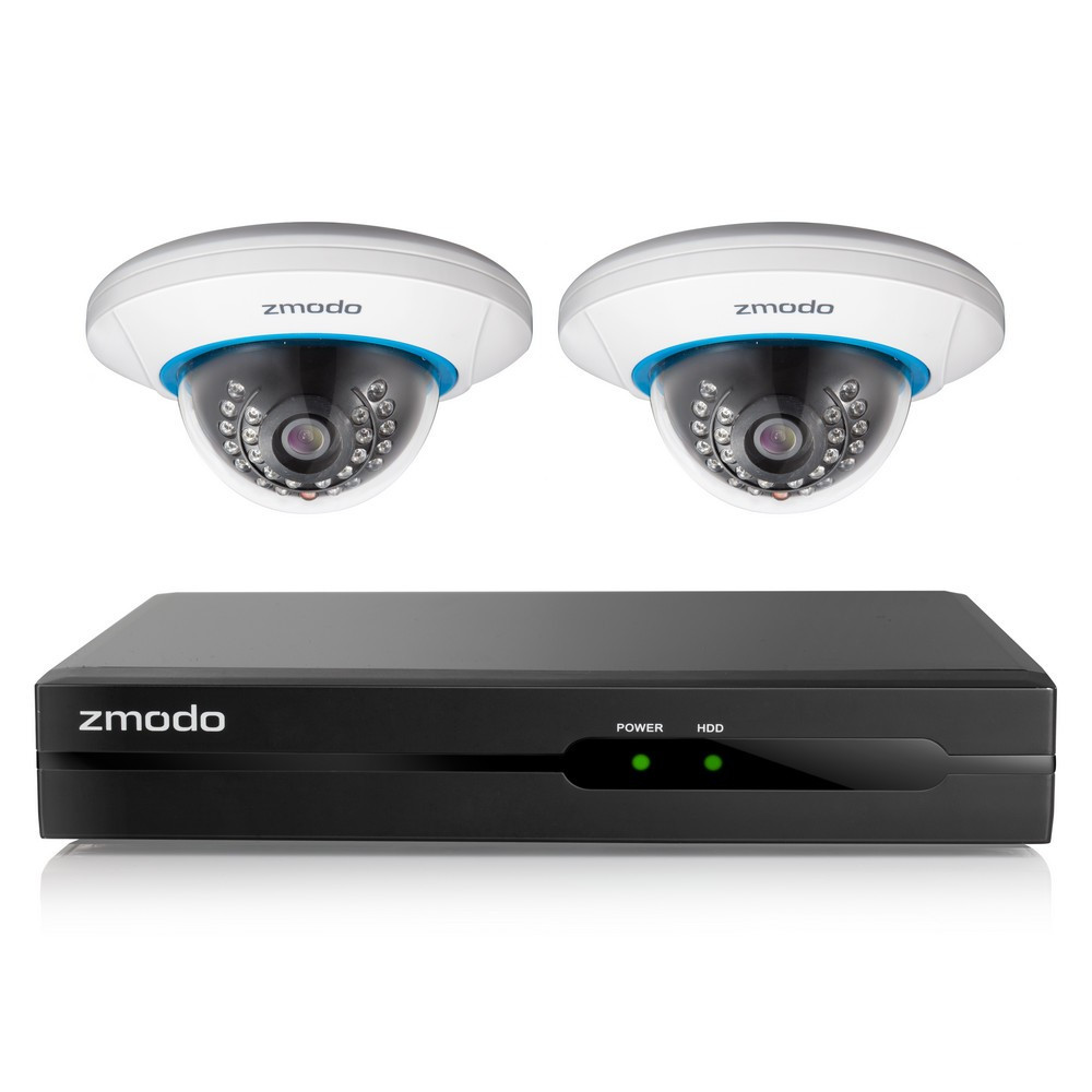 Zmodo 4 Channel 720P NVR with 2 Indoor Dome WiFi Network IP