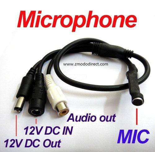 Zmodo Audio Microphone for Zmodo DVR Surveillance Systems