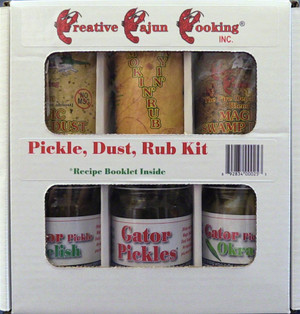When you want to Cajun it up, use the Pickle, Dust, Rub Kit!  Geaux (Cajun for Go) Party!
