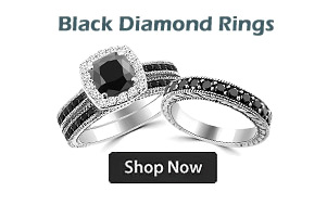 Black Diamond Engagement Wedding Rings
