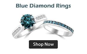 Fancy Blue Diamond Engagement Rings