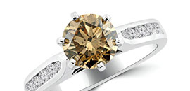 Champagne Brown Diamond Engagement Rings
