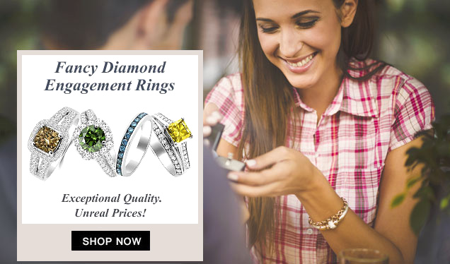 Fancy Colored Diamond Engagement Rings