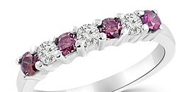 Fancy Pink Diamond Rings Purple Diamond Wedding Bands