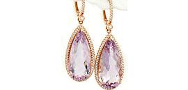 Gemstone Dangle and Stud Earrings