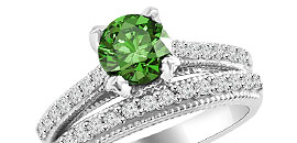 Green Diamond Engagement Rings