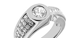 Men's Diamond Pinky Rings