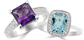 Semi-Precious Gemstone Rings
