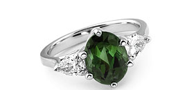 Tourmaline Engagement Rings