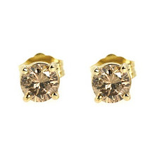 fancy rose stud diamond gold unique made earrings diamonds gemstones colored with and