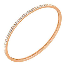 3ct Diamond Eternity Bangle Slide Pink Bracelet