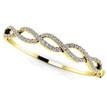 Diamond Twist Bangle Bracelet 18k Yellow Gold