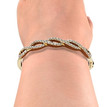Diamond Twist Bangle 18k Gold Bracelet on Wrist