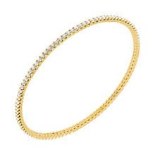 3ct Diamond Eternity Bangle Slide Bracelet Yellow Gold