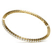 Classic Diamond Eternity Bangle Bracelet Yellow Gold Side-View