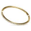 Classic Diamond Eternity Bangle Bracelet Yellow Gold Side-View