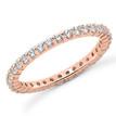 1 Carat Diamond Eternity Wedding Ring Anniversary Band Rose Gold