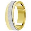 Diagonal Two Tone Wedding Ring 14k Gold