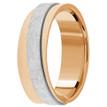 Diagonal Two Tone Wedding Ring 14k Rose Gold