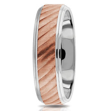 18k White and Rose Gold Wedding Band Two-Tone Ring